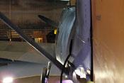 Handloch im Rumpfteil 9 und Abstrebung des Höhenleitwerkes