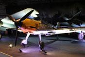 Ansicht der Messerschmitt Bf 109 E-4 'WNr. 4101' von vorne links