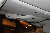 Rüstsatz M2 unter dem Rumpf der Bf 110 - zwei ETC 500 zur Aufhängung von Bomben oder anderen Lasten bis 500 kg
