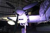 DB-605-Triebwerk des Nachtjägers Bf 110 G-4/R6 mit beidseitig angebrachten Flammvernichtern