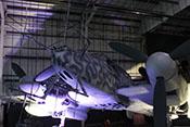 Rumpfspitze des Nachtjägers mit dem sogenannten 'Hirschgeweih', den Radarantennen des FuG 220 'Lichtenstein SN-2'