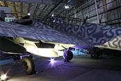 Übliche Mäandertarnung der deutschen Nachtjäger auf Rumpf- und Tragflächenoberseite der Bf 110