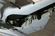 Fahrwerkschacht des linken Flügels