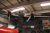 Frontansicht der CASA C-2-111.B (Lizenzbau der Heinkel He 111 H-16) im Auto- und Technikmuseum Sinsheim