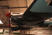 Luftschraube, Spinner und linke Triebwerkverkleidung des Bombers
