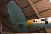 Heck der CASA C-2-111.B (Lizenzbau der Heinkel He 111 H-16) mit Höhenleitwerk und Spornradder