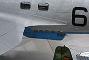 C-Stand in der Bodenwanne zur rückwärtigen Verteidigung des unteren Luftraumes