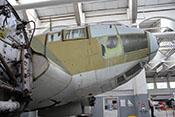 Abgeklebte Verglasung der Cockpitkanzel