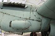 Außenseite des linken Rolls-Royce-Merlin-Triebwerks