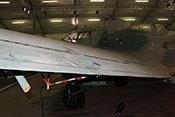 Linkes Querruder der Heinkel He 111 mit dem Entlastungsruder und der Steuerung für das Trimmruder