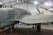 Blick auf den Rumpf und das rechte Tragflächenmittelteil der CASA C-2.111 D (Lizenzbau der Heinkel He 111 H-16)