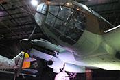 Cockpit-Kanzel und rechtes Jumo-211-Triebwerk der He 111 H-20
