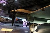 Blick auf das linke Triebwerk der Heinkel He 111