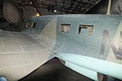Normales Kabinenfenster und Fenster für den S-Stand (seitliche Bewaffnung hier nicht verbaut) des Funkerschützenraumes der He 111