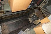 Nochmals Blick auf die Panzerung der Bodenwanne und den vorderen Lafettenkorb (D-Stand bei früheren Versionen der He 111)