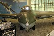 Frontansicht der Messerschmitt Me 163 B 'Komet'
