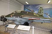 Ansicht des Raketenjägers mit Staurohr an der linken Tragflächenvorderkante