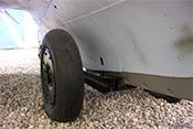 Abwerfbares, hydraulisch verklinktes Rollwerk der Me 163 B