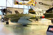 Seitenansicht der Messerschmitt Me 262 A-2a des RAF-Museums in London-Hendon