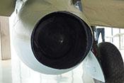 Blick auf die Rückseite des Junkers Jumo 004 der Messerschmitt Me 262 A-2a