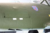 Linkes Haubenteil und Auswurföffnungen für die Hülsen der Mk108-Bordmaschinenkanonen