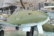 Fenster der Bordschießkamera (BSK) an der Rumpfspitze der Me 262