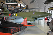 Ansicht der Me 262 von vorne rechts