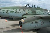 Tarnmuster auf Rumpf und Triebwerksgondel der Me 262