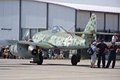 Die Me 262 B-1a der Messerschmitt-Stiftung auf dem Vorfeld