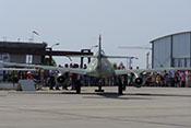 Heckansicht der Messerschmitt Me 262 B-1a