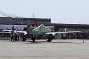 Ansicht der Me 262 von hinten rechts