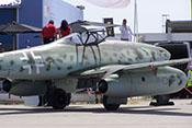 Me 262 mit geöffneter Cockpithaube