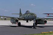Ansicht der Messerschmitt Me 262 von vorne rechts