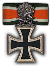 Eichenlaub mit Schwertern und Brillanten zum Ritterkreuz des Eisernen Kreuzes (Verleihung nach 150 Luftsiegen)