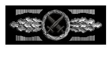 Frontflugspange für Schlachtflieger in Silber (Verleihung nach 60 Frontflügen)