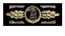 Frontflugspange für Aufklärer in Gold (Verleihung nach 110 Frontflügen)