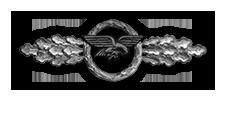 Frontflugspange für Transportflieger in Silber (Verleihung nach 60 Frontflügen)
