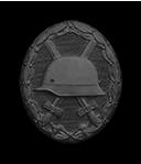 Verwundetenabzeichen in schwarz (Verleihung nach einmaliger Verwundung durch Feindeinwirkung)