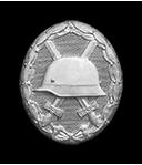 Verwundetenabzeichen in silber (Verleihung nach dreimaliger Verwundung durch Feindeinwirkung)