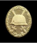 Verwundetenabzeichen in gold (Verleihung nach fünfmaliger Verwundung durch Feindeinwirkung)