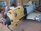 Der lachende Teufel als Staffelwappen der 2./JG 26 auf dem oberen Haubenteil der Bf 109 E-3 'WNr 1289'