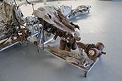 Pleulstangen, Kolben und andere Reste des ehemaligen Daimer-Benz-Flugtriebwerkes