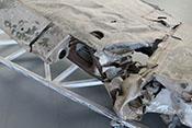 Handloch für die Flügelwaffe auf der Oberseite der rechten Tragfläche