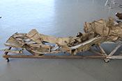 Trümmerteile der linken Tragfläche