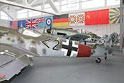 Rotes Reichsverteidigungsband des JG1 'Oesau' am Rumpfheck der Bf 109 G-14