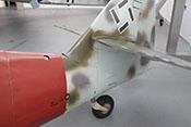 Spornrad und Klappe für den Zugang zur Spornradbefestigung sowie dem Arbeitszylinder