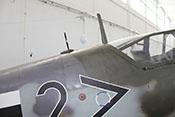 Peilrahmen und Antennenmast auf dem Rumpfrücken der Messerschmitt Bf 109