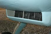 Detailaufnahme des Öl- bzw. Schmierstoffkühlers der Bf 109 G-2