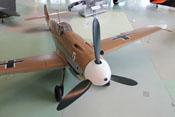 Ansicht der Messerschmitt Bf 109 G-2 von vorne rechts oben