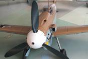 Ansicht der Messerschmitt Bf 109 G-2 von vorne links oben
